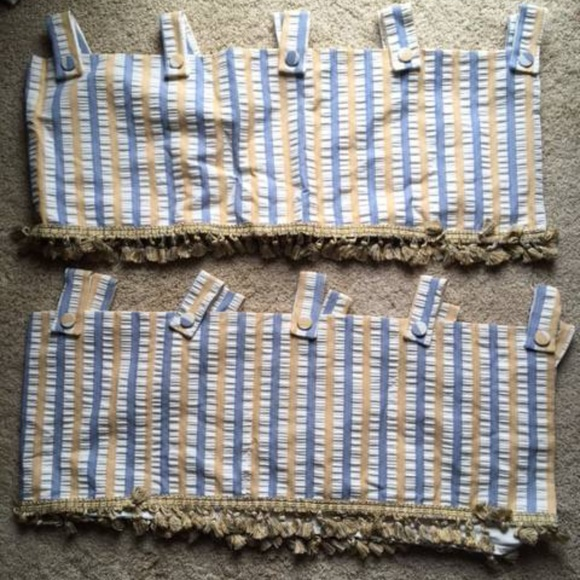 Other - Bedroom valance pair, twin bedskirt + fabric set